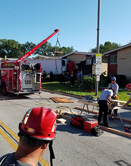 PFFD assists Lansing following crash