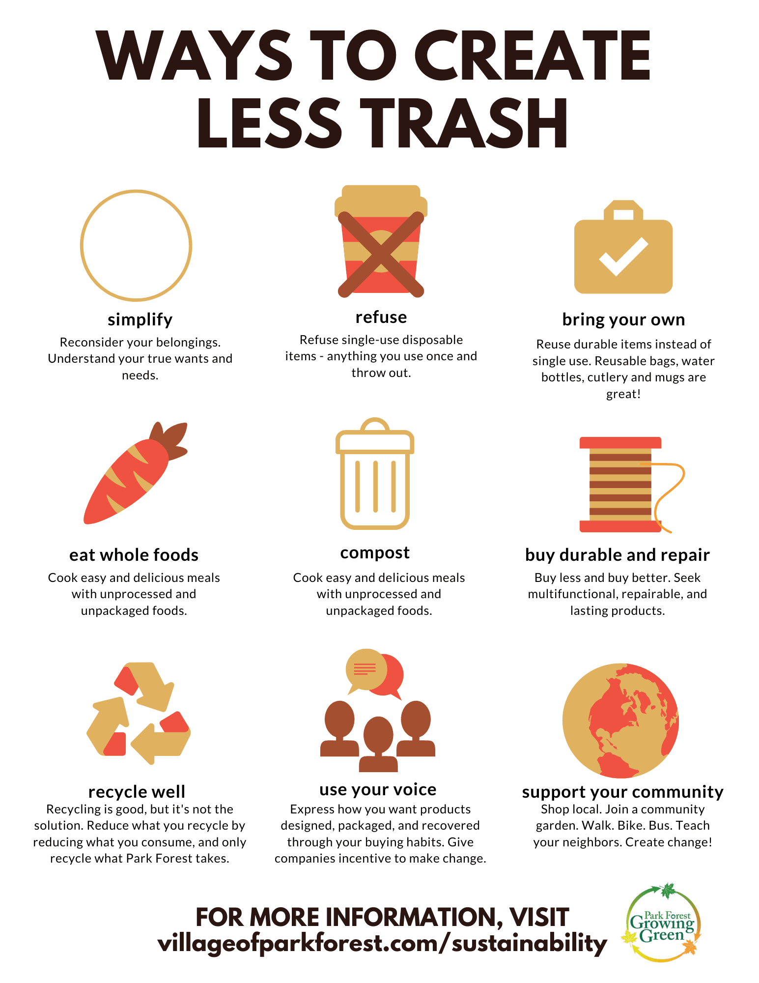 Ways to Create Less Trash